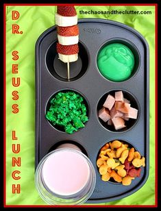 Dr. Seuss Muffin Tin Lunch via @Sharla Kostelyk