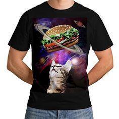 Kitten Casual Hooded Sweatshirt Wellcoda Space Burger Cat Fun Womens Hoodie