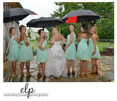 rainy wedding, bride with umbrella, bridesmaids with umbrellas, The Barn at  High Point Farms, Barn wedding, rustic wedding, outdoor wedding, farm wedding, Southern wedding, Georgia  wedding, Chattanooga Wedding, Barn wedding ideas, Rustic wedding ideas,