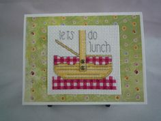 Lets do lunch hand sitiched card by HMCrafters on Etsy, $6.00