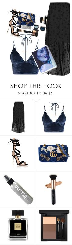 """""""Thanks For 1K Followers!!💙"""" by shahystyle ❤ liked on Polyvore featuring Boohoo, Gianvito Rossi, Gucci, Avon and MAC Cosmetics"""