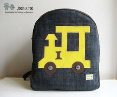 My Handmade Home: Yellow Train Toddler Backpack