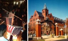 stop your donations, saint louis university to erect statue commemorating ferguson thugs who burned the flag