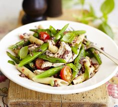 Use up this plentiful legume in a robust pasta dish with anchovy and olive tapenade sauce, tomatoes, basil and chilli