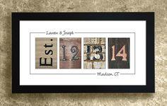 Numbers Photo Art - UNFRAMED, Wedding Date Numbers, Personalized Wedding Gift Idea, Wedding Date Gift by AlphabetArtPhotos on Etsy https://www.etsy.com/listing/96625376/numbers-photo-art-unframed-wedding-date