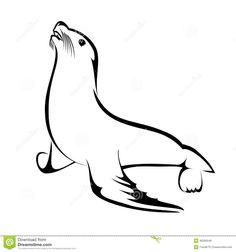 silueta lobo marino comun - Buscar con Google