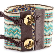 Women's Bracelets – Fine Sea Glass Jewelry Bead Loom Designs, Beaded Jewelry Designs, Bead Loom Patterns, Bead Loom Bracelets, Pandora Bracelets, Turkish Jewelry, Bijoux Diy, Leather Projects, Leather Cuffs