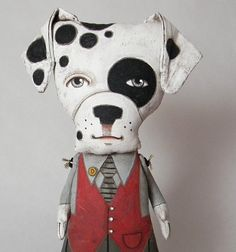 Dalmatian Dog, Contemporary Folk Art Doll by Dylan and Jo