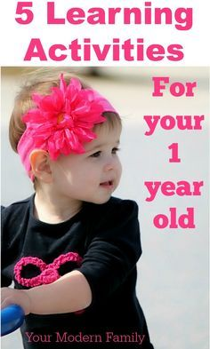 5 learning activities for a one year old
