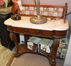 Antique Marble Top Commode