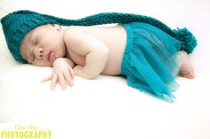 long hat accessory in photoshoot for newborn newborn photography