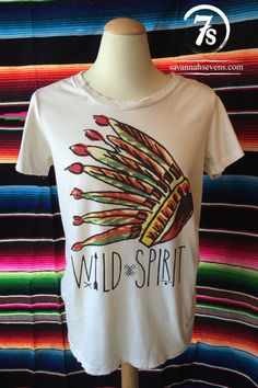 The Kadoka – Wild Spirit Indian headdress tee from Savannah Sevens Western Chic