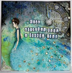Scrap Around The World: August 2014 Winners, Features, Finalists & Honourable Mentions 3rd Eye, August 2014, Cinderella, Eye Products, Mixed Media, Canvas Art, Scrapbooking, Sketches, World