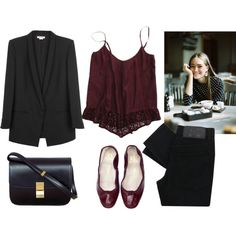 """""""Burgundy"""" by trenchcoatandcoffee on Polyvore"""