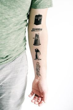 5 Doctor Who Temporary Tattoos GeekTat by GeekTat on Etsy