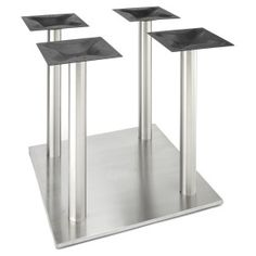 Our high quality, stainless steel square style table base from the RSQ series is perfect for indoor and outdoor use in any dining, restaurant, home or commercial environment where you need an elegant table base with a modern style. Stainless Steel Table, Stainless Steel Material, Brushed Stainless Steel, Metal Table Legs, A Table, Table Bases, Dining Table, Reclaimed Furniture, Kitchen Upgrades