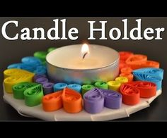 DIY How to make Quilling Candle Holder - Quilling for beginners