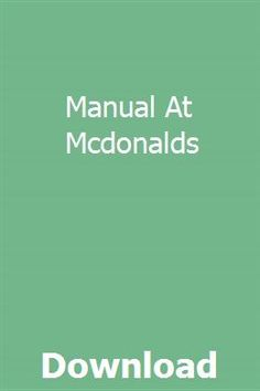 Manual At Mcdonalds Ramsey Winch, Mac Recipe, Bmw 318i, Ford Parts, Advertising And Promotion, Engine Block, Case Ih, Ford Expedition, Mcdonalds