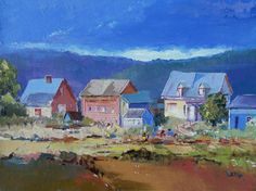 Canadian painting Island of Orleans   Gift by OilPaintingsByLevie