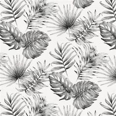 Gray Painted Tropical fabric available by the yard from Carousel Designs. Tropical Fabric, Tropical Pattern, Tropical Prints, Watercolor Wallpaper Iphone, Laptop Wallpaper, Nautical Sleeve, Toddler Sheets, Olive Oil Cake, Carousel Designs