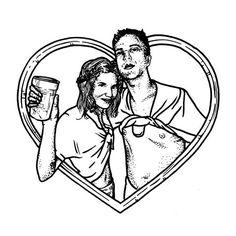 My incredible wedding #love #illustration #mariagebearnais #beer #graphicdesign