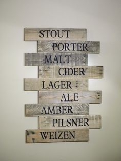 Pub Sign Brewery Art Craft Beer Bar Sign Wood Signs Reclaimed Sign Wood Wall Art… from metal sayings wall art, Lo Home Bar Decor, Pub Decor, Rustic Wall Decor, Unique Home Decor, Home Decor Items, Brewery Decor, Pub Signs, Beer Signs, Wall Signs