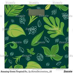 Amazing Green Tropical Foliage Pattern Bathroom Scale Bath Scale, Amazing Greens, Tropical, Bathroom, Pattern, Washroom, Full Bath, Patterns, Bath