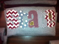 Hand Made Applique Mississippi State University t shirt or sweatshirt in Adult and Children sizes on Etsy, $28.00