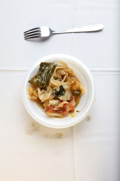 Cabbage and Collards - This sounds delicious and is a nice variation on the version of collards we've been making this winter.