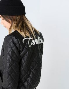 Bershka Belgium -BSK quilted imitation leather jacket