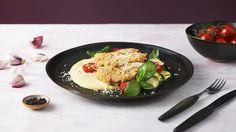 Kuracie rezne s polentou a cuketou