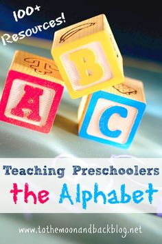 Giant, organized list of resources for teaching preschoolers the alphabet. Very useful!