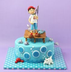 Cakes for kids, fishing #cake by TNBrat