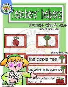 the apple tree free pocket chart
