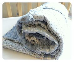 DIY Baby Boy Rag Quilt -
