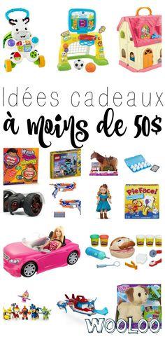 Est-ce que vos enfants ont été sages cette année? Si oui, voici quelques idées cadeaux à moins de 50$ pour vous aider à préparer votre liste! #AcadémieDesJouets #jouets #ad #cadeaux #noel