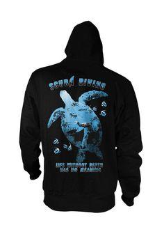 Life Without Depth Has No Meaning - Hoodie | #TeeVogue #travel #inspiration cool custom scuba diving t shirts & hoodies | teevogue.com