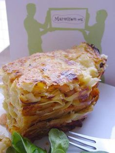 Lasagnes aux poireaux et au saumon  leeks and salmon lasagnas, quite innovating !!