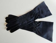 Gant Madeleine Vintage 1940's Navy Blue Opera Gloves Made In France 7 from vfv on Ruby Lane  $20    http://www.rubylane.com/item/676693-A439/Gant-Madeleine-Vintage-1940s-Navy