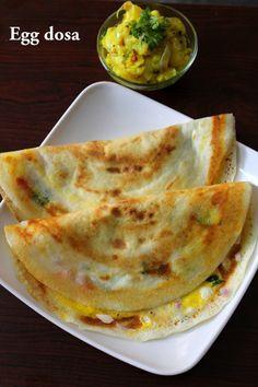 egg dosa recipe, mutta dosa - Yummy Indian Kitchen #eggrecipes #eggs #indianeggrecipes #eggrecipesforbreakfast