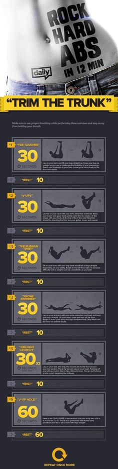 12min of Abdominal exercises.... http://sulia.com/channel/fitness/f/f4896858-68ef-45ae-a1d7-a3cb372addc0/?source=pin&action=share&btn=small&form_factor=desktop&pinner=125130203