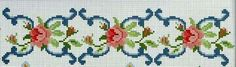This Pin was discovered by Peo Cross Stitch Borders, Cross Stitch Rose, Cross Stitch Flowers, Cross Stitch Designs, Cross Stitching, Cross Stitch Embroidery, Cross Stitch Patterns, Christmas Embroidery Patterns, Embroidery Patterns Free