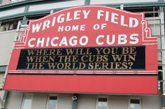 Sporting News Pegs Chicago Cubs World Series Champs in 2015 Hummel Baby, Chicago Events, Chicago Cubs World Series, Cubs Win, Go Cubs Go, Chicago Cubs Baseball, Field Of Dreams, Wrigley Field, My Kind Of Town