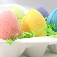 Easter Egg Bath Bombs  Set of 6 Egg Shaped Bath Bombs by KBShimmer, $9.50