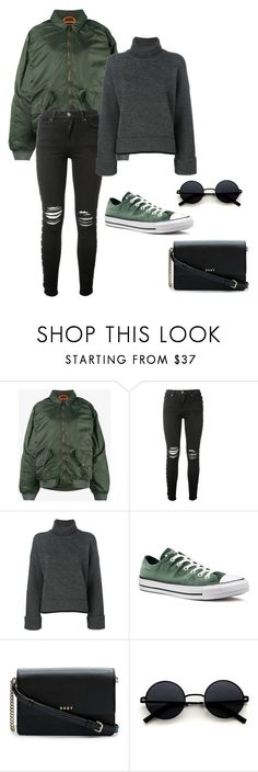 """Grunge style"" by eda-kunics on Polyvore featuring Y/Project, AMIRI, Dsquared2, Converse and DKNY"