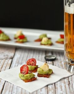 Bacon Guacamole Appetizer - get the EASY recipe on http://RachelCooks.com
