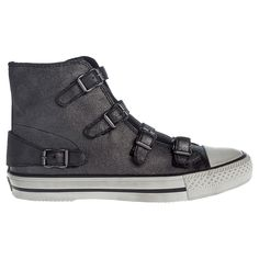 Buy Ash Virginy High Top Leather Trainers, Black | John Lewis