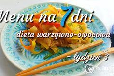 Menu tygodniowe – dieta warzywno-owocowa – tydzień 3
