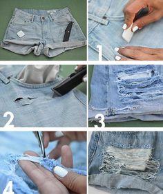 La mejor forma de hacer jeans rotos - Imagen 2
