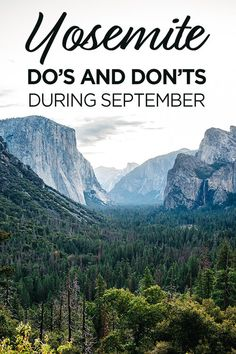 Do's and Don'ts For Yosemite National Park in September - Travel Pockets Yosemite National Park, National Parks, Mist Trail, Travel Usa, Travel Tips, Travel Advise, Travel Ideas, Yosemite Falls, Scenic Photography